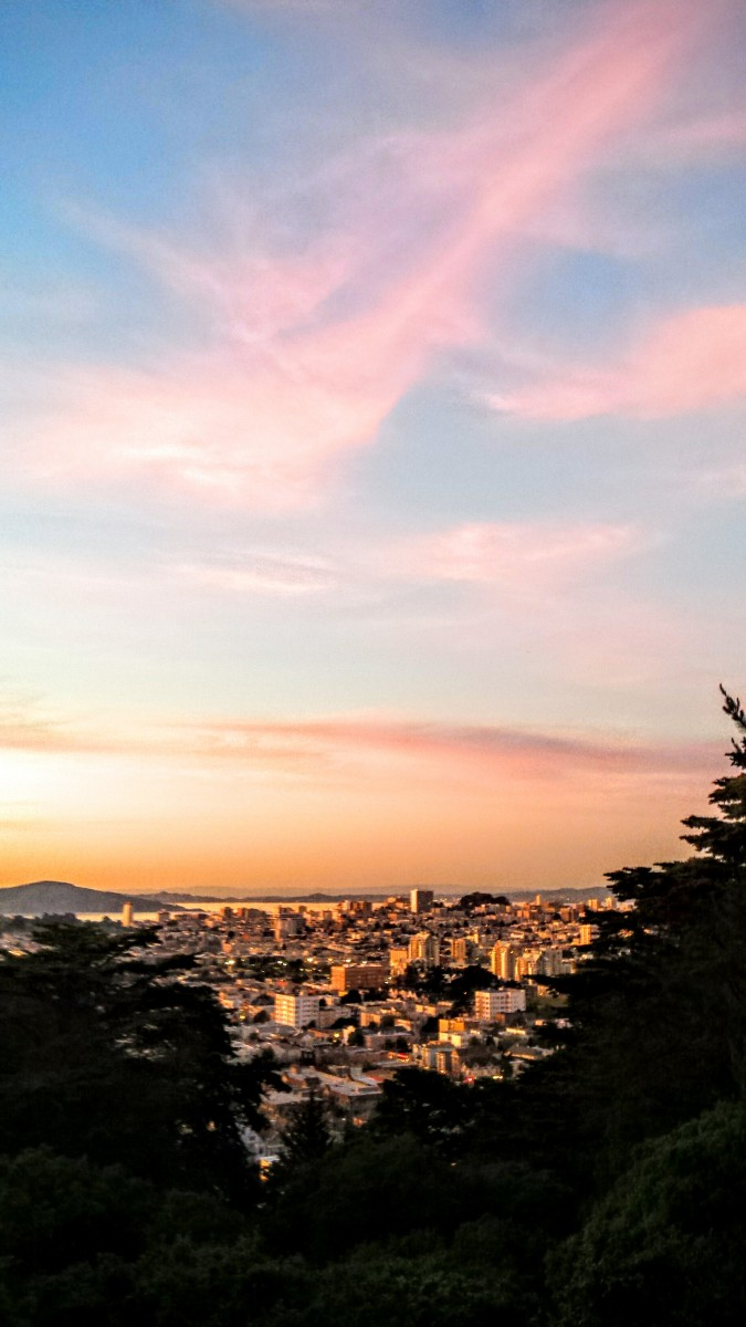 Buena Vista Park SF Sunset Joy Walk